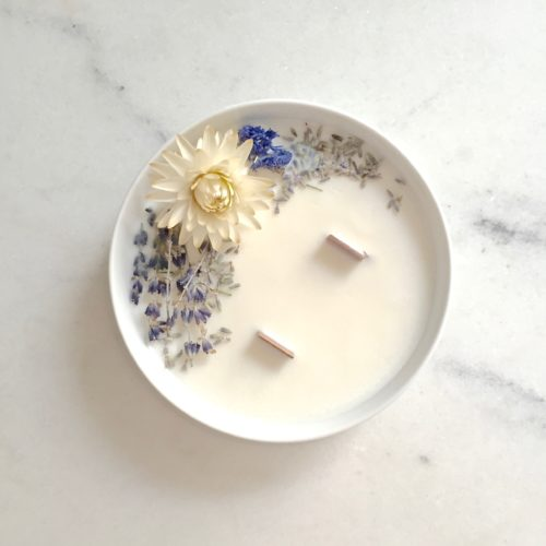 bougie-fleurie-lavande-52h